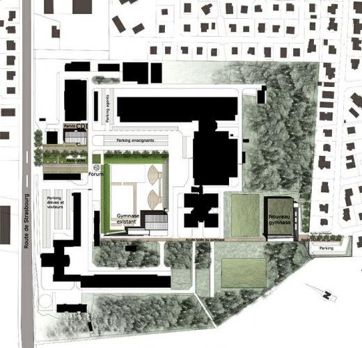 Extension restructuration du lycée H. Nessel-2004 : 16-HN-01