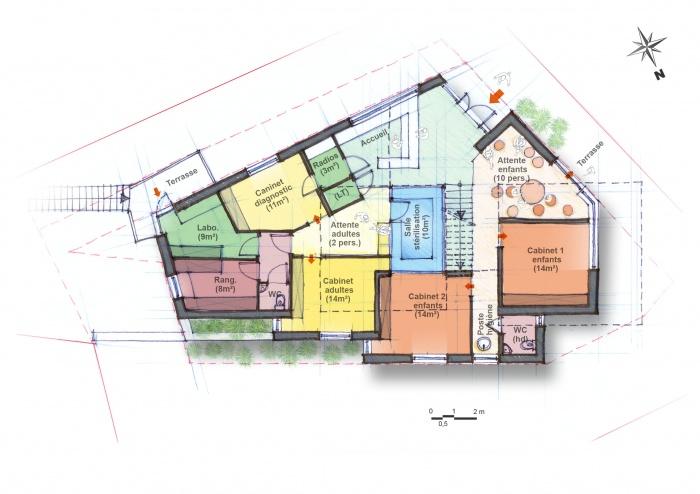 Cabinet médical / aménagement parking : plan rdc copie