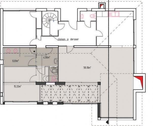 Restructuration d'une villa : 2plan copie
