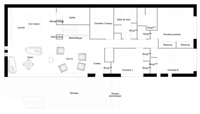 La maison belvédère : Plan R+1