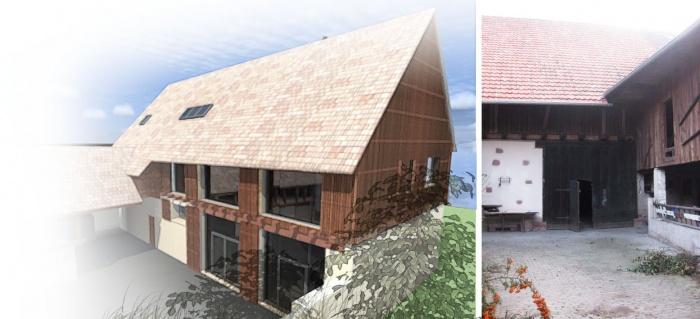 Réhabilitation d'une grange en Habitation individuelle : pers 2