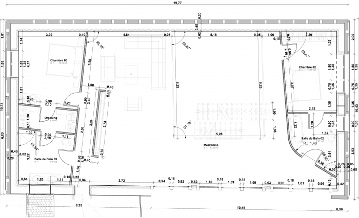 Réhabilitation d'une grange en Habitation individuelle : Pro delette-2