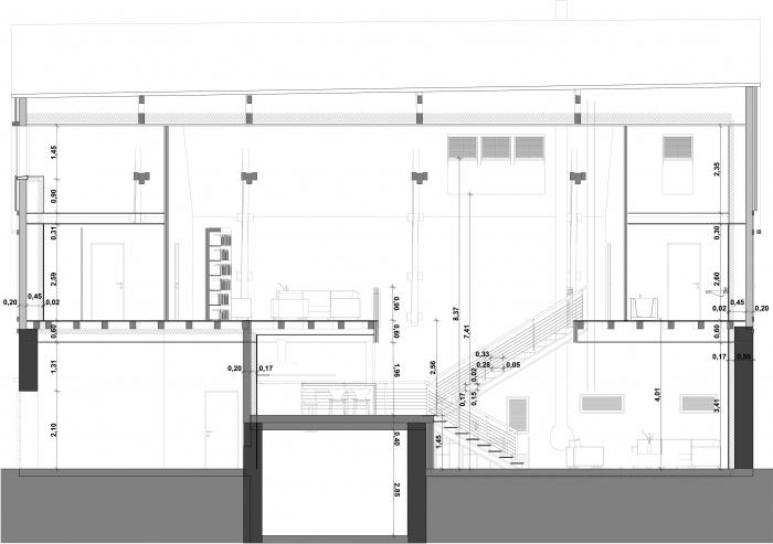 Réhabilitation d'une grange en Habitation individuelle : Pro delette-4