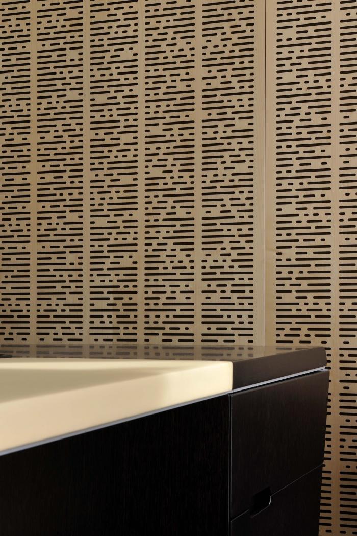 Espace Gestion de Patrimoine à Grenoble : détails materiaux des bureaux