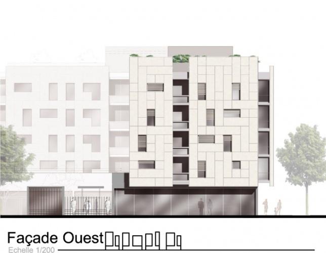 Concours-construction de 90 logements et commerces : fa O2