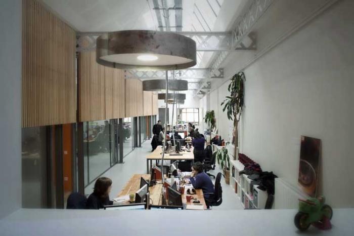 transformation d'un local industriel en bureaux
