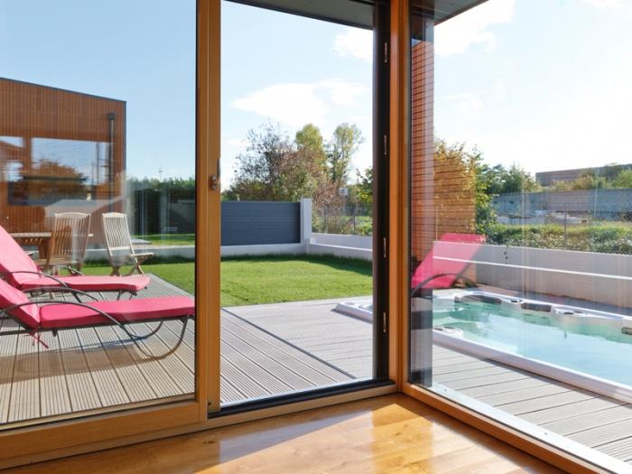 Maison BBC ossature bois à Lyon : maison moderne bois lyon