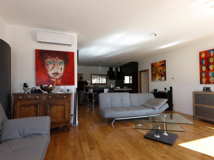 Maison BBC ossature bois à Lyon : maison contemporaine architecte lyon