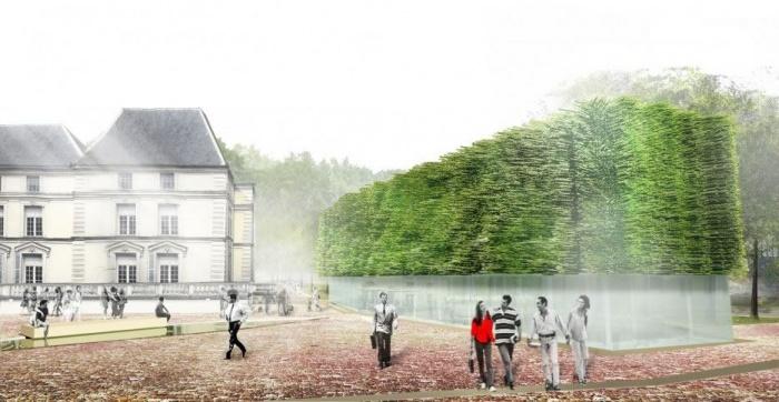 Les tenues forestières : l'un des pavillons, entre architecture et paysage