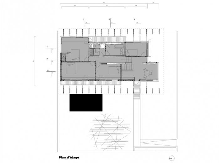 Villa B2 : Plan Etage