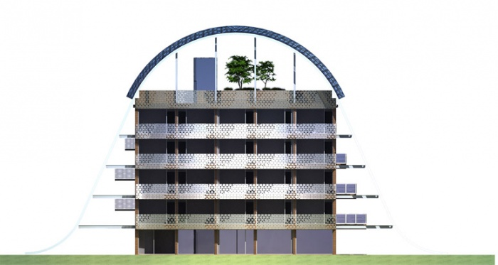 LE VILLAGE RUBAN : facades 02