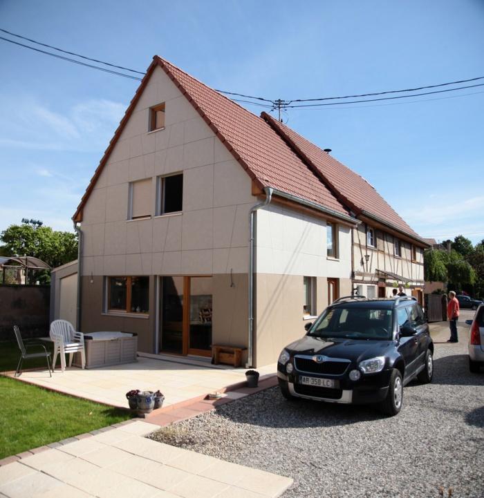 Extension et Rénovation d'une maison alsacienne à REICHSTETT (67)