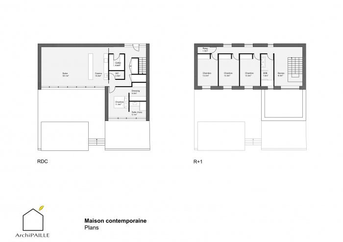 Maison contemporaine en paille : ArchiPAILLE 03