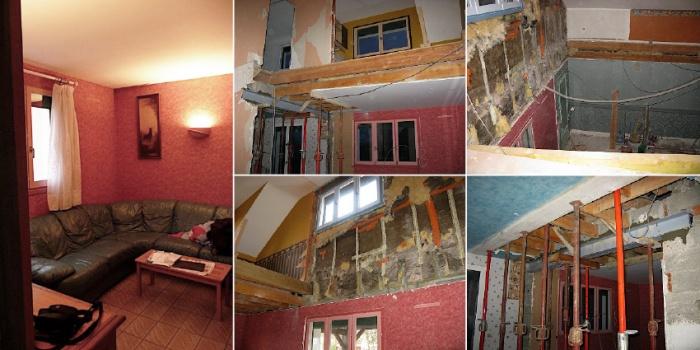 rénovation et aménagement Contemporain complet d'une partie d'une maison : projet_lieu2