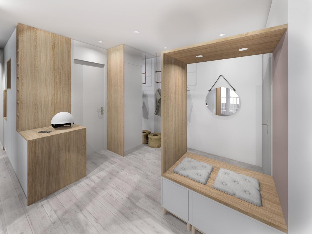Rénovation d'un appartement de 65m² : entréee_2