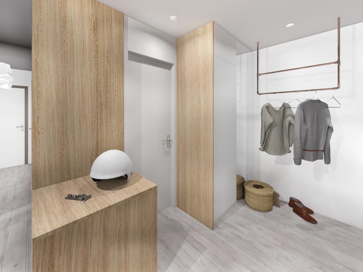Rénovation d'un appartement de 65m² : entrée WC