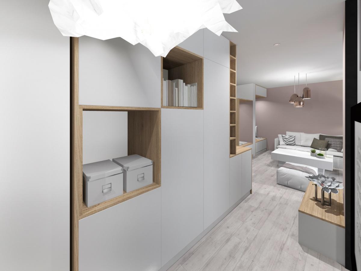 Rénovation d'un appartement de 65m² : couloir_1