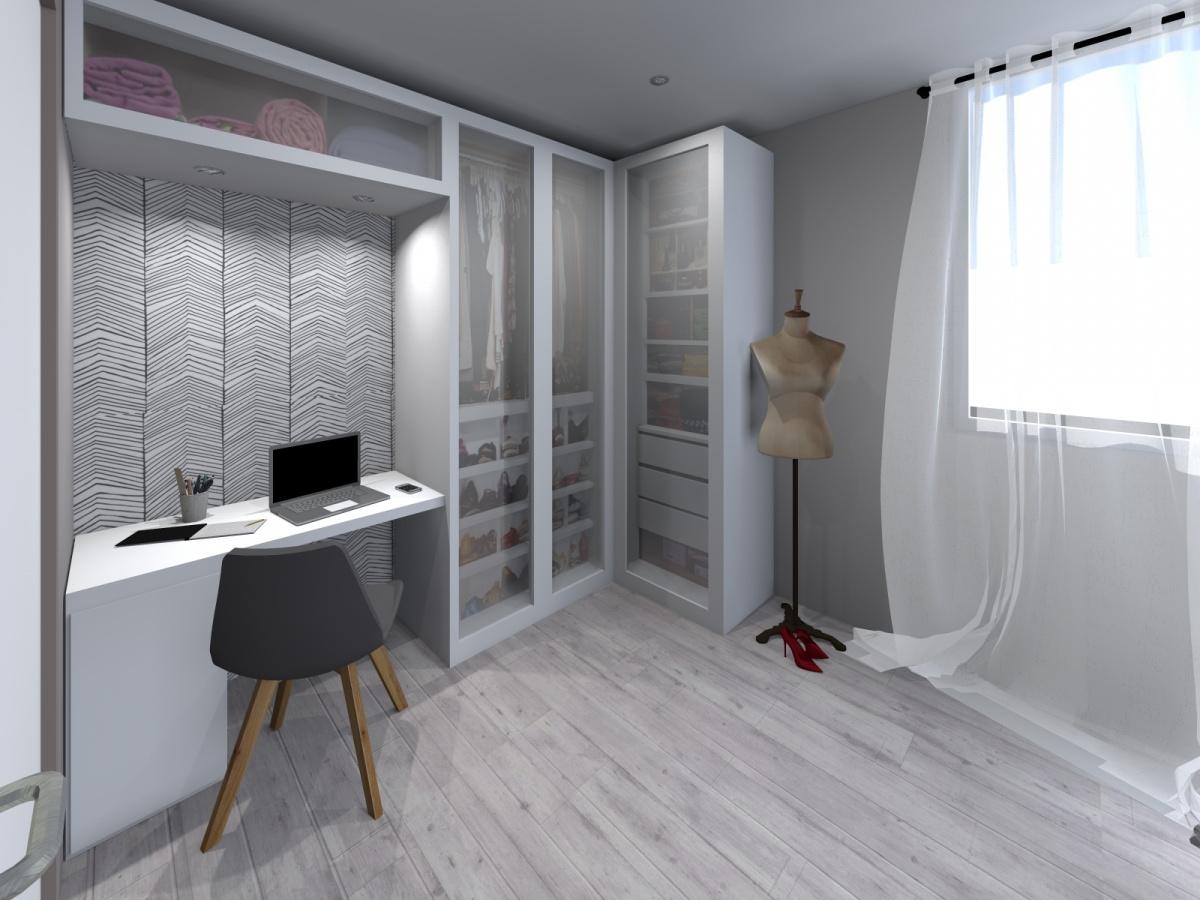 Rénovation d'un appartement de 65m² : chambre _1